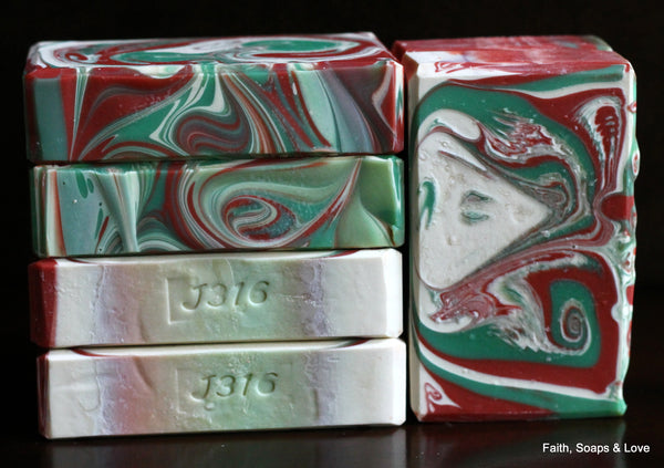 Christmas Tree - Handcrafted Soap - Pine, Lime, Cardamom, Pepper, Scotch Pine