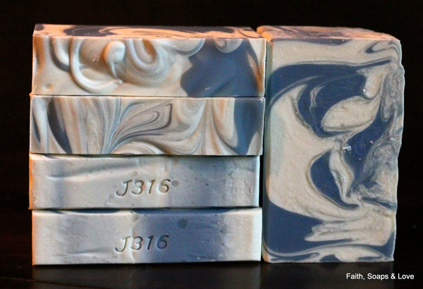 Clean Cotton - Small Batch Soap - Handcrafted - Fresh Citrus Powder
