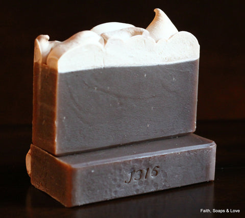 Frosted Gingerbread Scented Handmade Soap - Gingerbread, Cinnamon, Butter