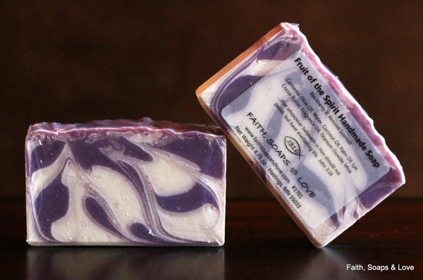 Fruit of the Spirit - Blackberry and Almond Scented Soap - Christian - Bible Study - Minnesota