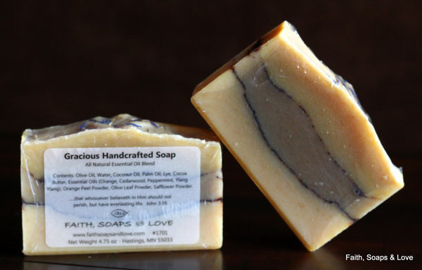 Gracious Handcrafted Artisan Soap - Essential Oil - All Natural - Made in Minnesota
