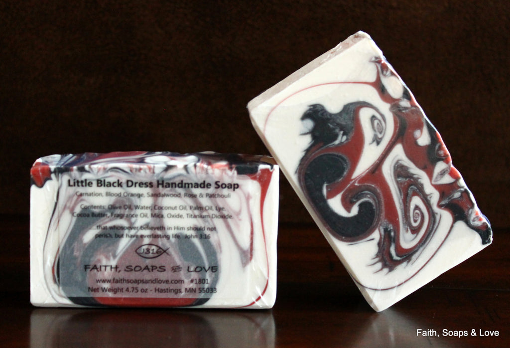Little Black Dress Handcrafted Artisan Soap Exotic Floral Made