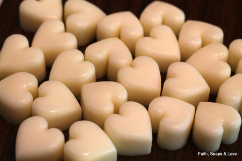 Solid Lotion Bar Hearts Wedding Party Favors - 50 Heart Shaped Lotion Bars