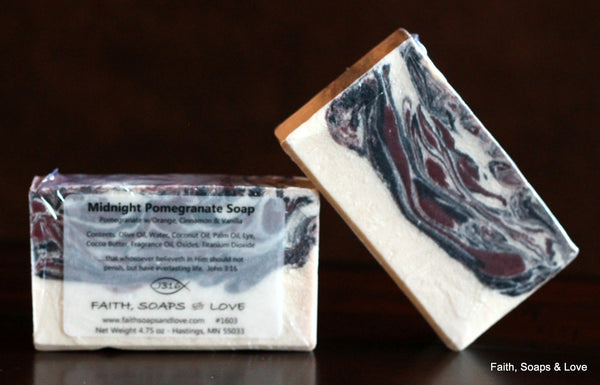Midnight Pomegranate Functional Art Handcrafted Soap - Made in Minnesota