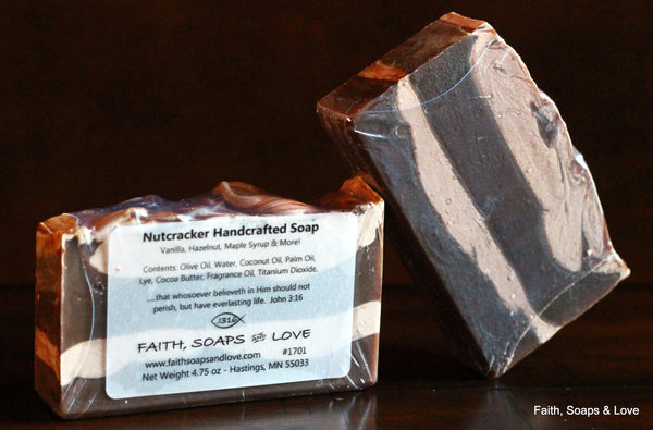 Nutcracker Handcrafted Soap - Vanilla, Hazelnut, Maple Syrup and more!