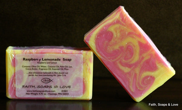 Raspberry Lemon - Artisan Small Batch Soap - Raspberry and Lemon