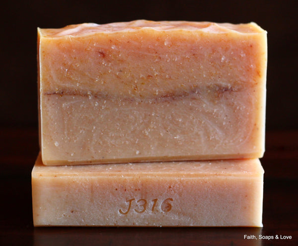 Refined By Fire Handcrafted Soap - Lemongrass Essential Oil Soap - All Natural - Christian