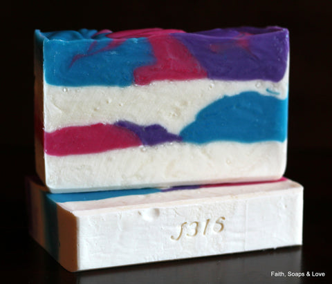 Saved By Grace Handcrafted Soap - Honeysuckle with Jasmine, Rose & Lilac Scented - Made in MN