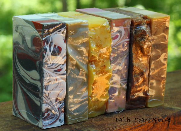 Soap of the Month Club - 6 Month Membership - FREE SHIPPING - Handcrafted Artisan Soap - Christian