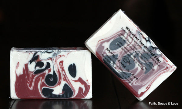 Whosoever - Black Raspberry Vanilla Scented Soap - Christian - Made in Minnesota