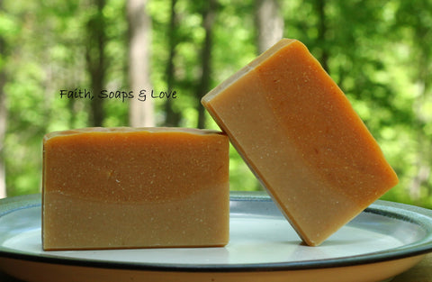Lemongrass All Natural Small Batch Soap - Essential Oil Botanicals Made in MN Christian Gift
