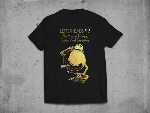 Letterheads 42 T-shirt Gold Limited Edition