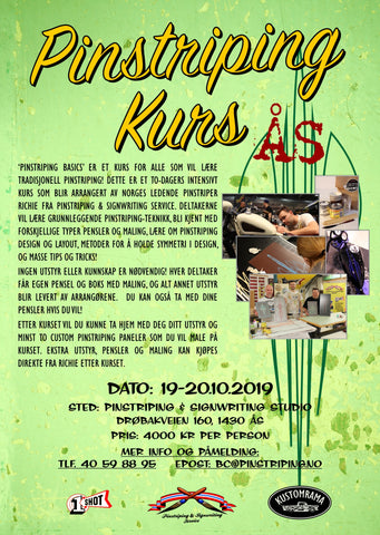 Pinstriping Basics Workshop ÅS - 19-20 October 2019