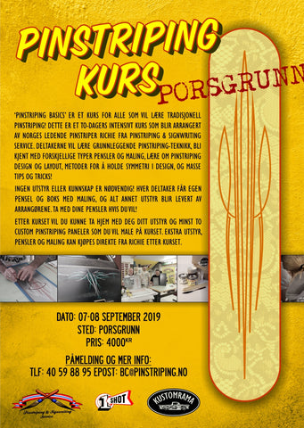 Pinstriping Basics Workshop PORSGRUNN - 07-08 September 2019