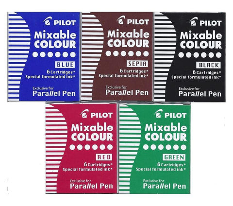 Pilot Parallel Pen Ink Refills for Calligraphy Pens (Box of 6 cartridges)