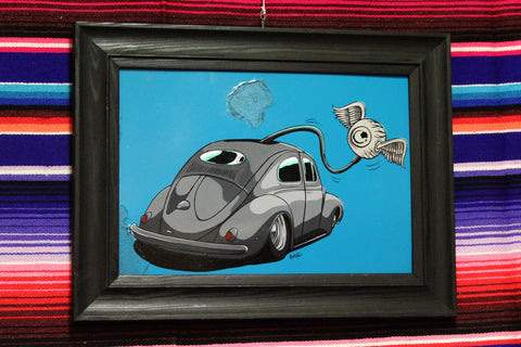 Flying Eyeball VW Beetle by RnF Kustoms