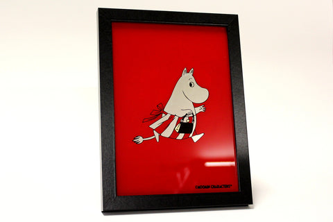 Moomin Mamma - 12 Carat White Gold Leaf Glass Art
