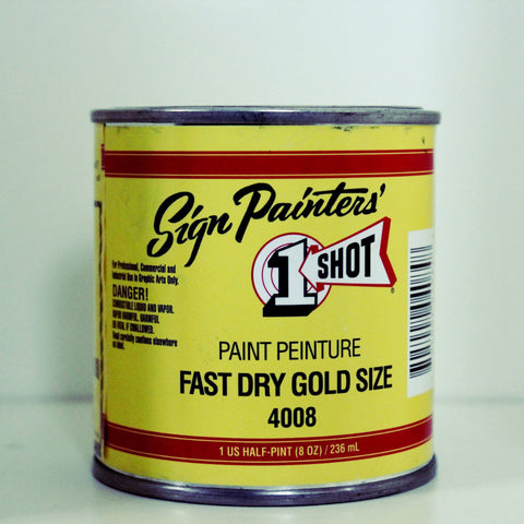 1 Shot  Fast Dry Gold Size 4008 /236ml