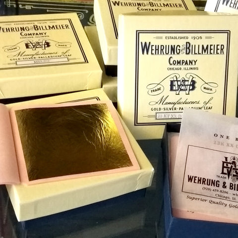 W&B Gold Leaf 18K Lemon Gold - Booklet (25 leaves)