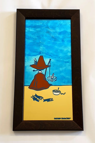 "Moomin ""Save Our Sea"" No. 3 - Gold Leaf Glass Art"