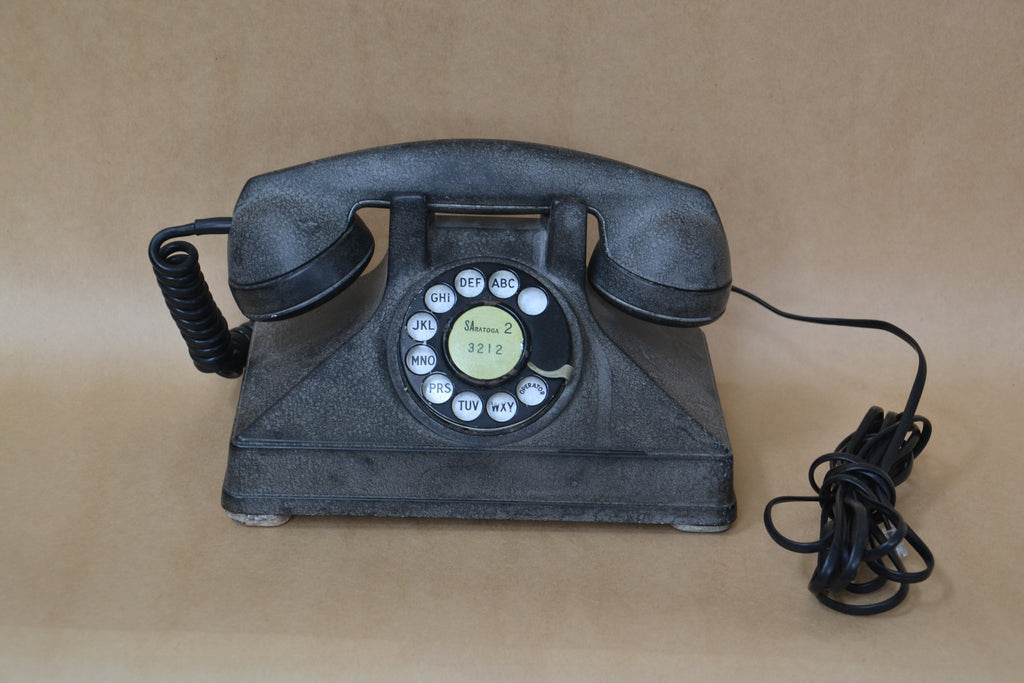 Black Bakelite NORTHERN ELECTRIC PYRAMID Rotary Telephone