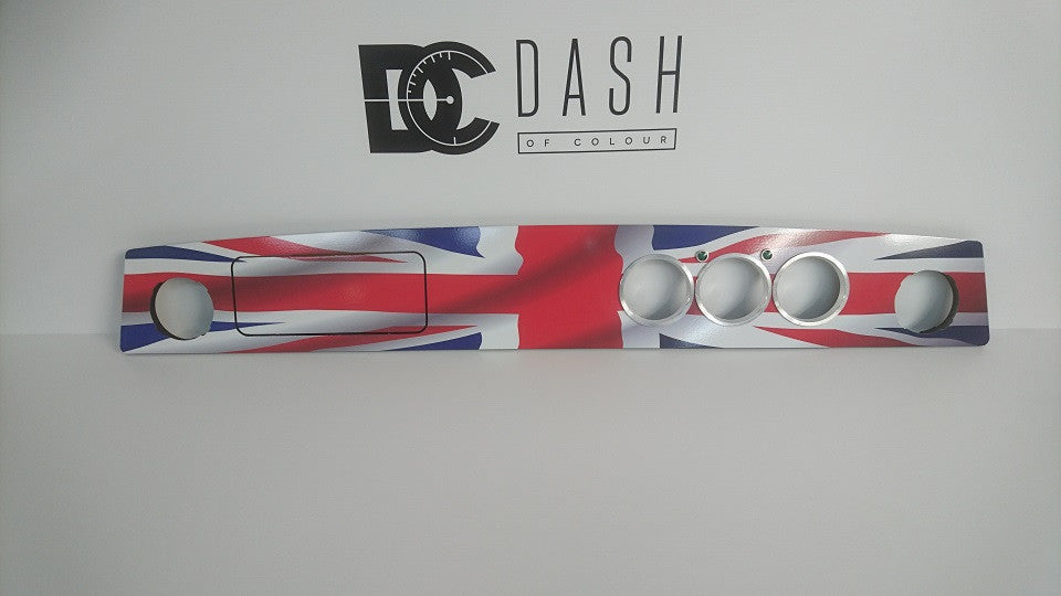 3 Dial Flat - Union Jack Vinyl Dashboard - With Glove Box & Air Vents