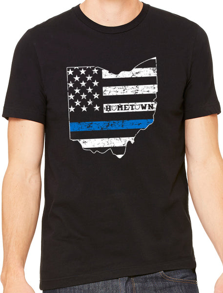 Blue Line State Tee