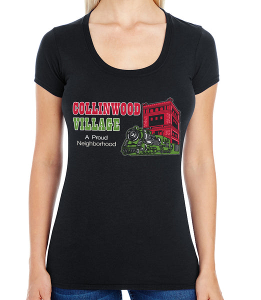 Collinwood Village Swoop Neck Tee