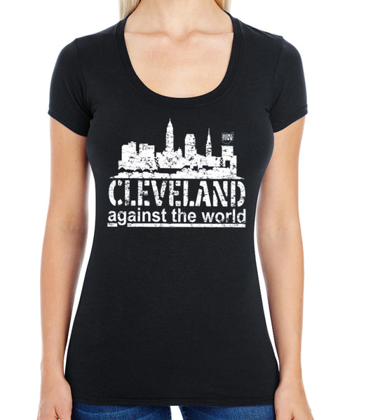 Cleveland Against the World Swoop Neck Tee