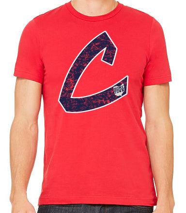 Old School C Tee (Navy/White)