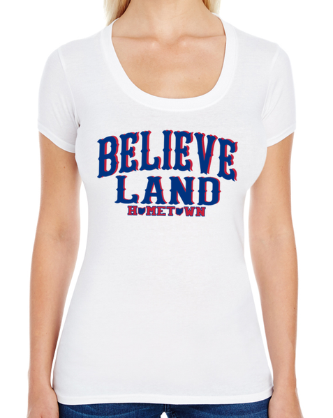 Believe Land Swoop Neck Tee