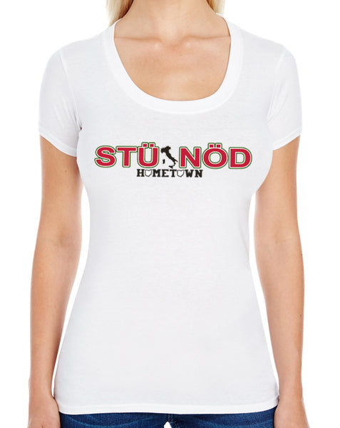 Stunod Swoop Neck Tee