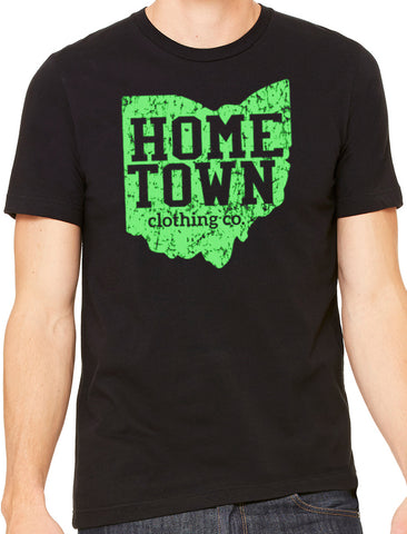 Hometown Logo Tee (Neon Green)