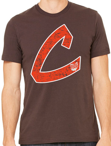 Old School C Tee (Orange/White)