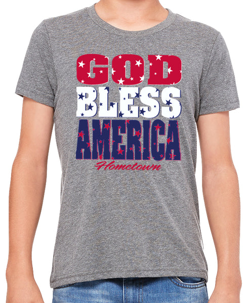 God Bless America Kids Tee