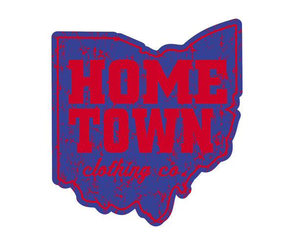 Home Town Red/Blue Sticker