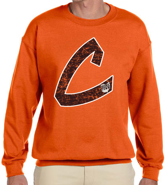 Old School C Sweatshirt (Brown/White)