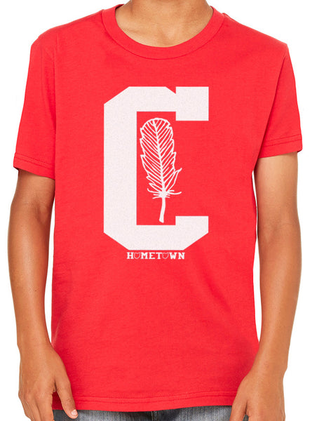 Big C Feather Kids Tee