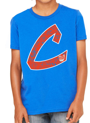 Old School C Kids Tee (Orange/White)