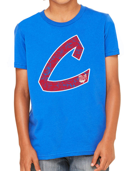 Old School C Kids Tee (Red/White)
