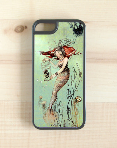 steampunk, mermaid design phone case, iphone, galaxy, note