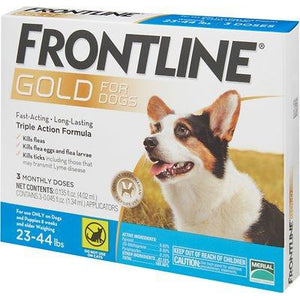 Frontline Gold Flea & Tick Treatment for Medium Dogs (23-44 pounds)