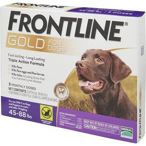 Frontline Gold Flea & Tick Treatment for Large Dogs (45-88 lbs)