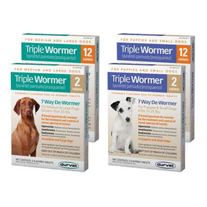 Triple Wormer for Small & Large Dog