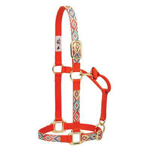 Nylon Chevron Adjustable Chin and Throat Snap Horse Halter - EZhorse.com