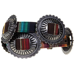 M+F Western Products Womens Serape Concho Belt