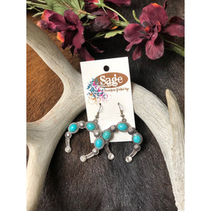 Turquoise Naja Blossom Earrings