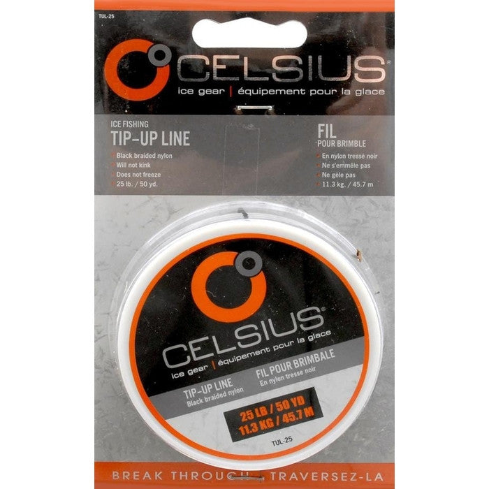 Celsius Ice Fishing Tip-Up Line 25lbs 50yds - Huls Outdoors