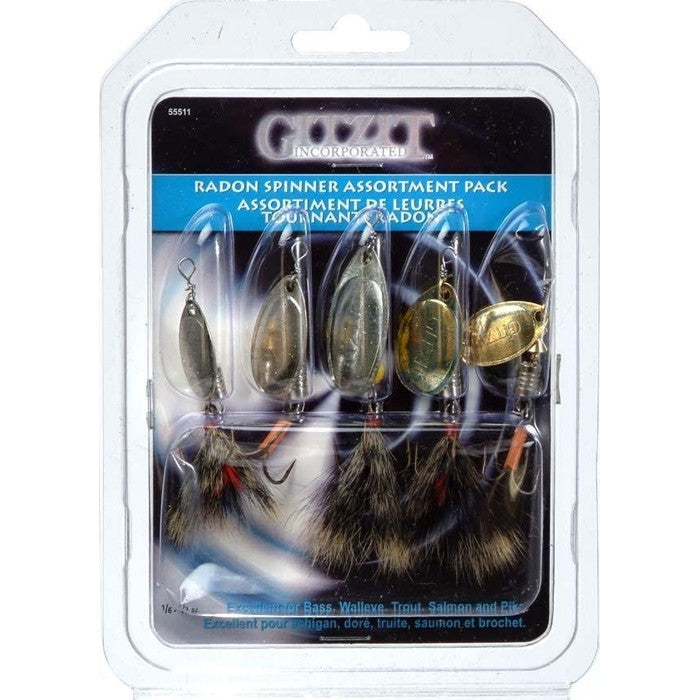 Gitzit Radon Spinner Assortment 5 Pack - Huls Outdoors