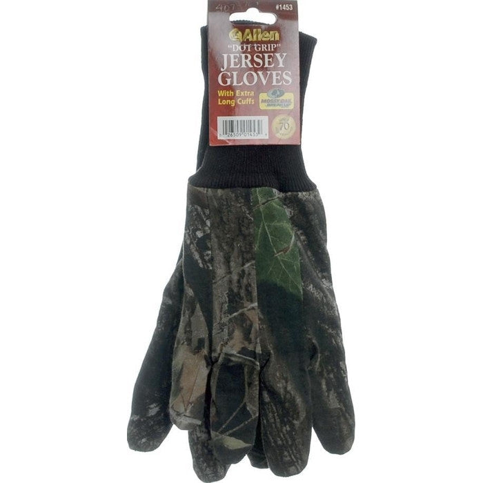 Allen Camo Dot Grip Jersey Gloves - Adult - Huls Outdoors